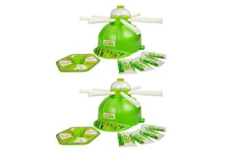 2x Nickelodeon Slime Soaker Game w/8x DIY Instant Slime Powders/Helmet Kids 5y+