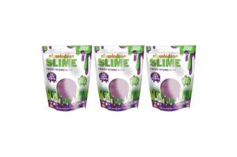 3x Nickelodeon Slime Crazy Hydro Slime w Beads/Glitter Toy/Game f Kids Oil Slick