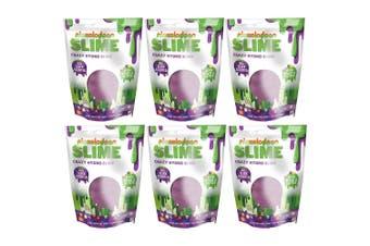 6x Nickelodeon Slime Crazy Hydro Slime w Beads/Glitter Toy/Game f Kids Oil Slick