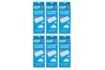 6x 6PK Spiffy Cleaning Eraser Set Multi-Functional Kitchen/Home/Bathroom Cleaner