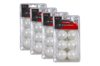 4x 6pc Smartplay 2 Star Table Tennis Plastic Ball 40+ ABS Ping Pong Game White
