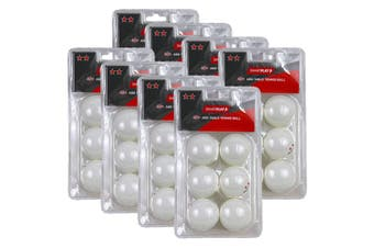 8x 6pc Smartplay 2 Star Table Tennis Plastic Ball 40+ ABS Ping Pong Game White