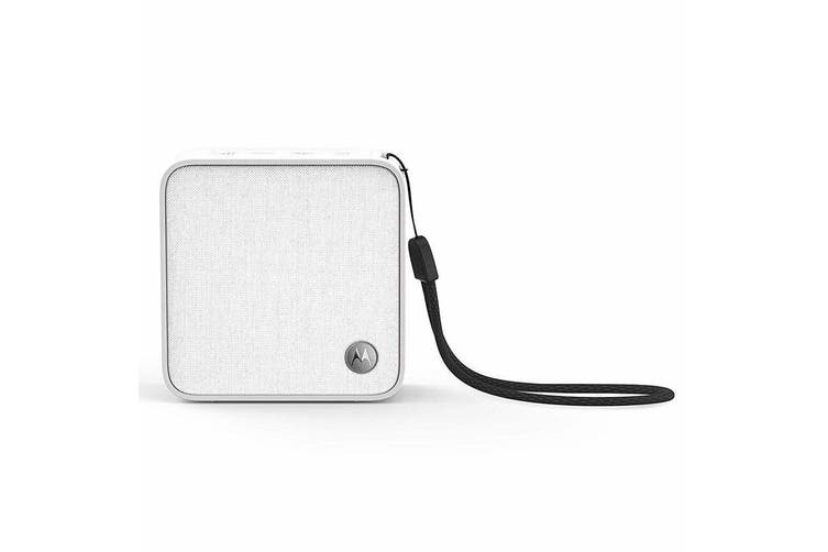 Motorola Sonic Boost 210 Wireless Bluetooth Portable Speaker w Handsfree Mic WHT