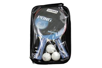 SmartPlay 2 Player Table Tennis Bats Set Sport Game Ping Pong Training w/3 Balls