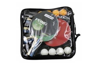 SmartPlay 4 Player Table Tennis Bats Set Sports Game Training Kit w/3 Balls/Net
