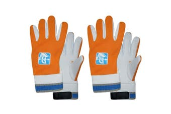 2x Spartan Cricket Cotton Padded Palm Inners Wicked Keeping Glove Boys Orange