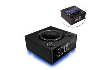 Laser Wireless USB Qi/Charger w FM Radio Alarm Clock/NFC/Bluetooth Speaker Black
