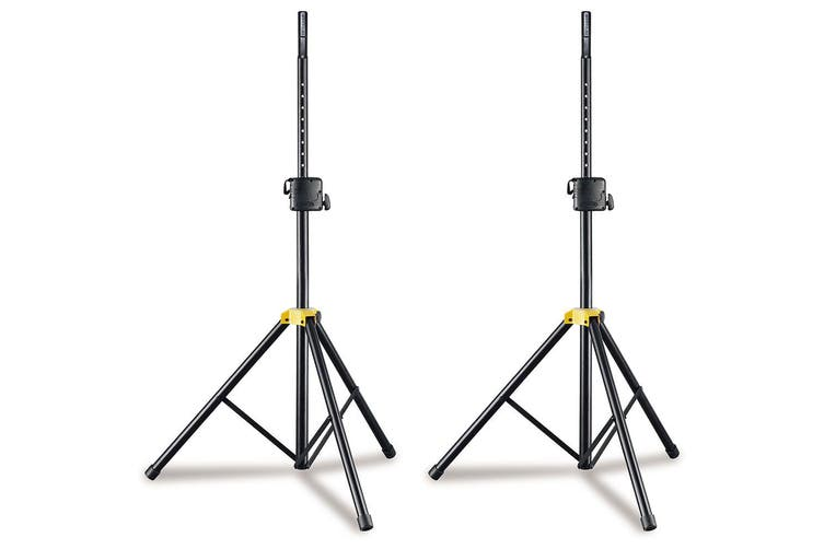 2x Hercules Foldable Floor Stand/Holder/Mount for Stage PA Speaker w/Adaptor BLK