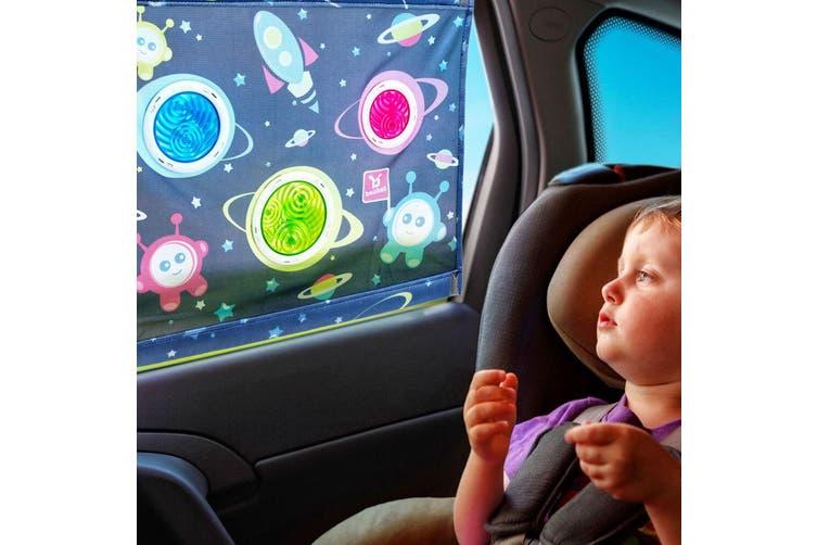 2PK Benbat Bubble Dreams Extra Large Baby Sunshade Car Seat Window Shield Cover
