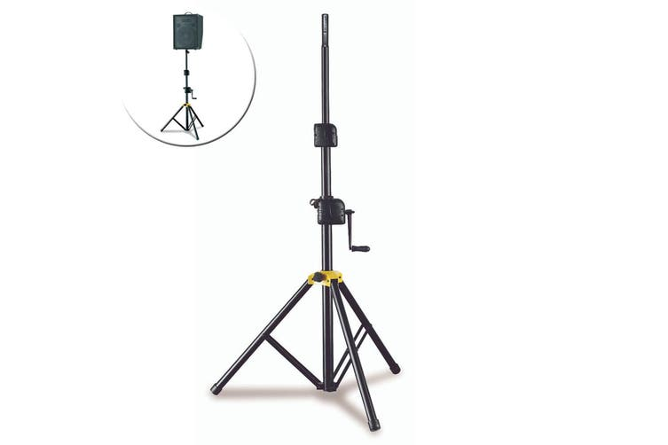 Hercules Foldable Winch Up Floor Stand/Holder for Stage PA Speaker w/Adaptor BLK