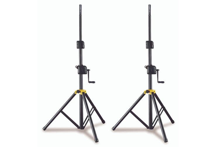 2PK Hercules Foldable Winch Up Floor Stand/Holder for Stage PA Speaker w/Adaptor
