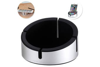 Just Mobile Black AluCup Cup Stand Holder Desk for iPhone/iPad/Smartphone/Tablet