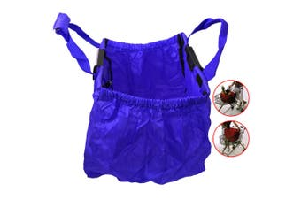 Multi Purpose Clip + Carry Bag for Shopping Trolley/Cart Waterproof Compact Blue