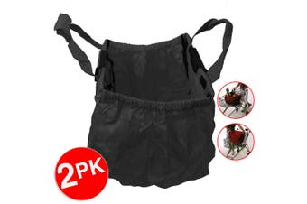 2PK Multi Purpose Clip + Carry Bag for Shopping Trolley Waterproof Compact Black