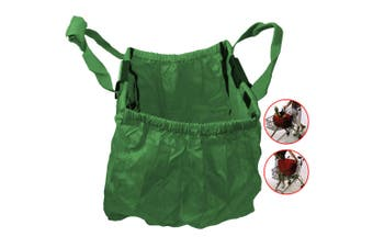 Multi Purpose Clip + Carry Bag for Shopping Trolley/Cart Waterproof Compact GRN