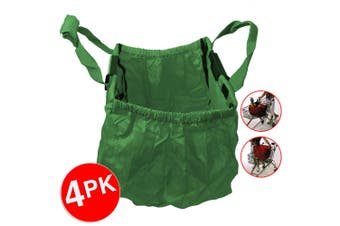 4PK Multi Purpose Clip + Carry Bag for Shopping Trolley Waterproof Compact Green