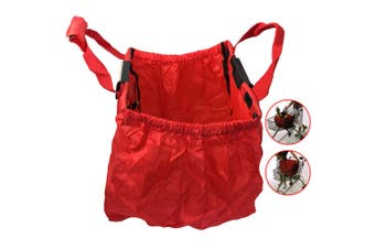 Multi Purpose Clip + Carry Bag for Shopping Trolley/Cart Waterproof Compact Red
