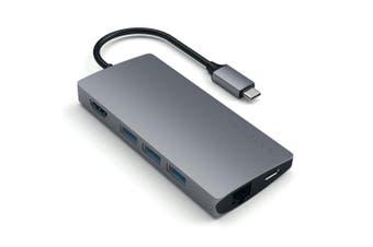 Satechi USB-C Type Male Multi-Port Adapter 4K HDMI Port w/Ethernet V2 Space Grey