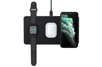 Satechi Trio Wireless Charging Pad for Apple iPhone 11 Pro Max/Samsung S10+ BLK