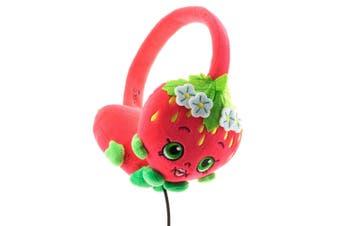 Shopkins Plush Kids Headphones/Headband for Audio/DVD/MP3/iPad Strawberry Kiss