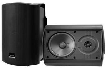 """WINTAL STUDIO6B 6"""" 2x Outdoor Indoor Speakers Weather Proof Universal Mount BLK"""