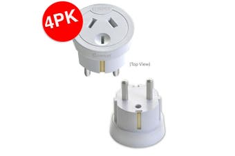 4x Sansai Travel Power Adapter Outlet AU/NZ Socket to Plug Asia EU/Bali/M East