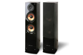 Pure Acoustics 200W Supernova Floor Standing Speaker Pair for Home Theatre Black