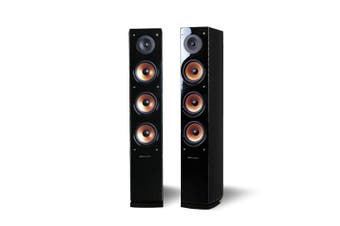 Pure Acoustics 250W Supernova 8 Floor Standing Speaker Pair f/Home Theatre Black