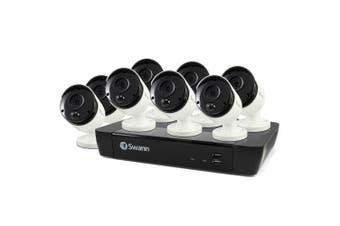 Swann 8ch Security System w/DVR 2TB HDD/8x Ultra HD 4K Bullet CCTV Cameras/Audio