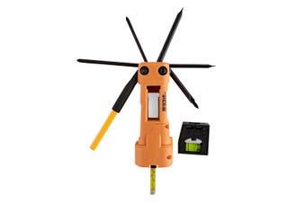 10pc Resolve Home Pocket MultiTool Set Screwdriver/Philips/Level/Stud Finder Kit