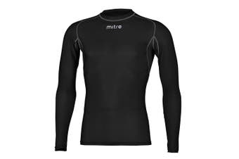 Mitre Neutron Base Layer Black Compression LS Top Size SY 5-7y Kids Sportswear