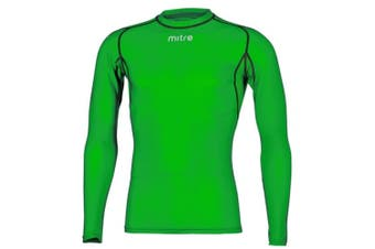 Mitre Neutron Base Layer Emerald Compression LS Top Size LG Mens Gym/Sportswear