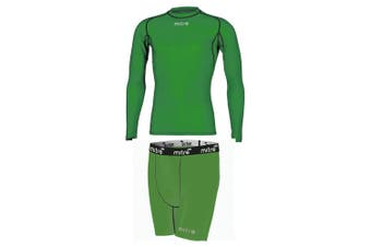 Mitre Neutron Base Layer Compression Sports Shorts/Top Mens Size MD Emerald