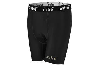 Mitre Neutron Compression Shorts Size LY 10-12y Kids Unisex Sports Tights Black