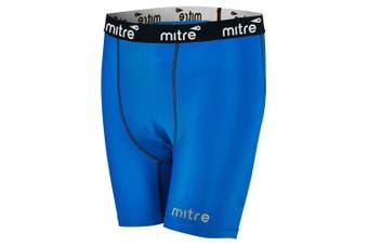 Mitre Neutron Compression Shorts Size XL Men Sports Activewear/Gym Tights Royal