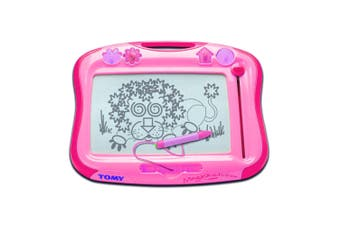 Tomy Pink etch a sketch Classic Toy Kids Children 3+ Draw Drawing Writing Board