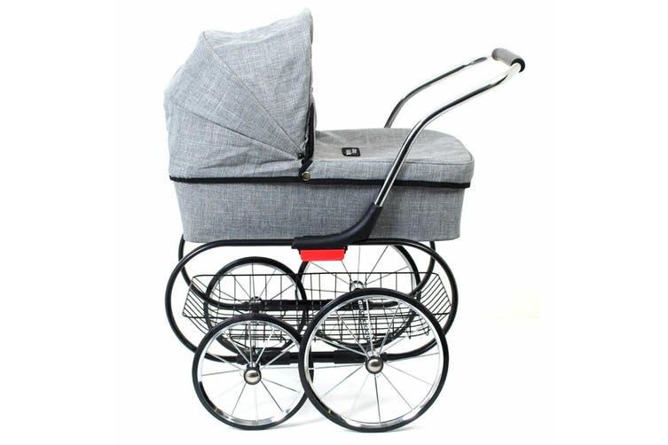 Valco Baby Royale Dolls Pram/Stroller Kids 3y+ Pretend Role Play Toys Grey Marle