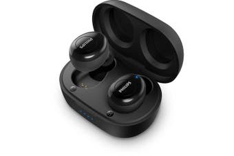 Philips 2000 Series True Wireless Bluetooth Earphones w/Charging Case/Mic Black