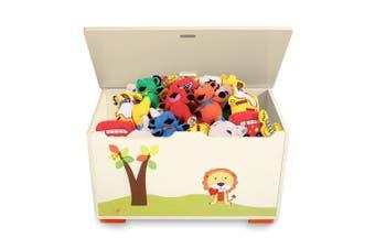 Gem Toys 58cm 50L Wood Children/Kids Box/Chest F/Clothes/Toy Storage w/Lid Lion
