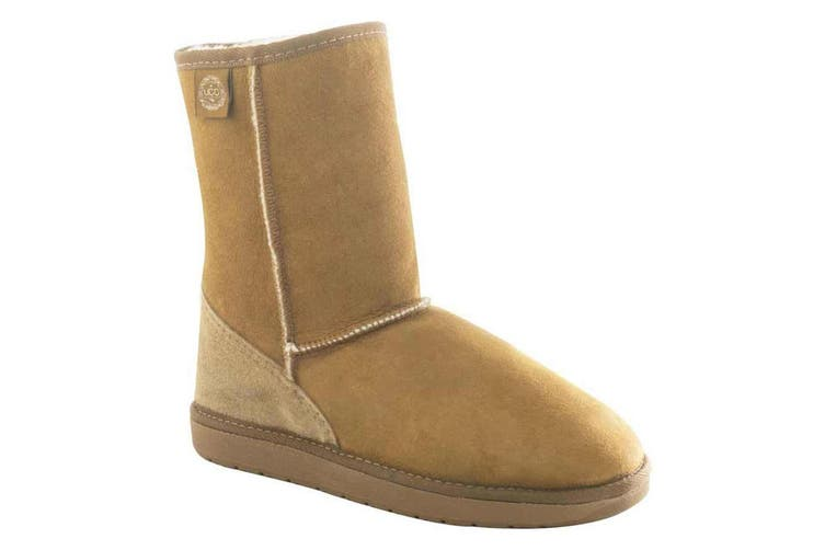 Ugg Australia Unisex Sheepskin Tidal 3/4 Winter Boots Men 3 / Women 5 Chestnut