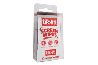 10pc Tikkiti Anti-Bacterial Screen Cleaning Wipes/Cloths for Smartphones/Tablets