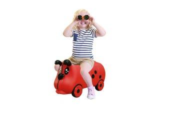 Lenoxx Kids/Children 18L Travel Cabin Luggage Trolley Ride On Wheel Suitcase Red