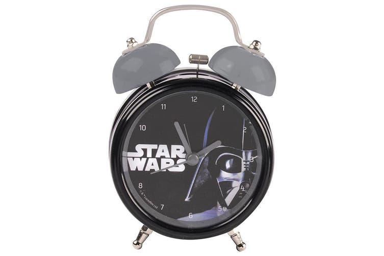 Star Wars Alarm Clock Darth Vader Twin Bell Analog w/ LED Light Kids Retro