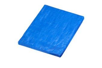 Polyethylene Waterproof 5.4x3.6m Tarpaulin Plastic Cover Canopy Sheet Tarp Blue