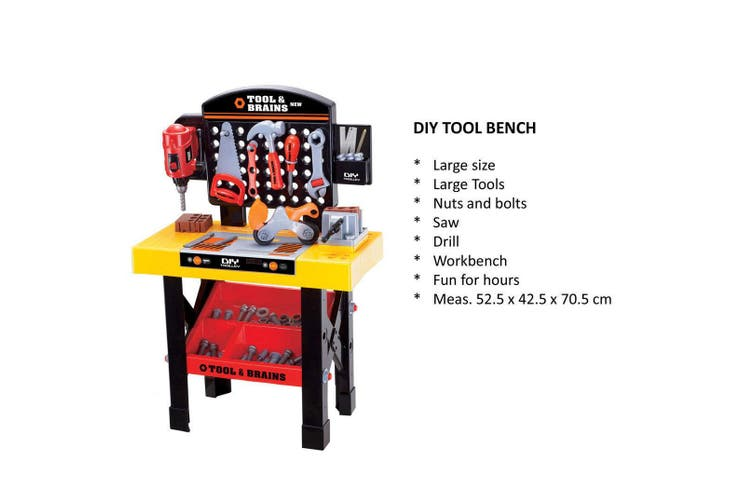 Kids/Children DIY Workbench Tools Pretend Role Play Toy Set/Saw Drill Hammer nut