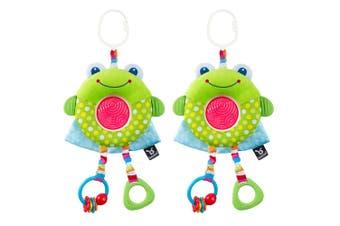 2PK Benbat Dazzle Multi Skills Travel Educational/Development Baby 0m+ Toy Frog