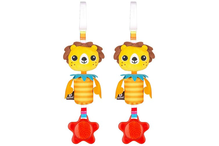 2PK Benbat Wind Chime Lion Baby/Infant 0m+ Hanging Educational Toy for Stroller