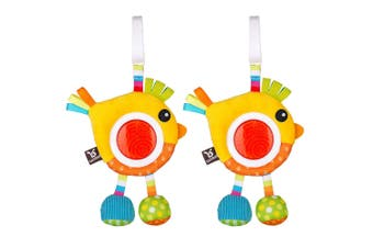 2PK Benbat Dazzle Rattle Bird Baby/Infant 0m+ Hanging Educational Stroller Toys
