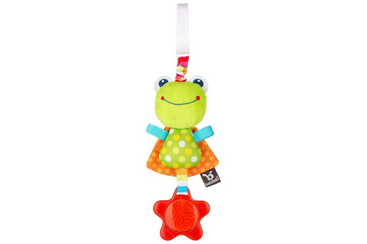 2PK Benbat Dazzle Frog Jitter Baby/Infant 0m+ Hanging Educational Stroller Toys