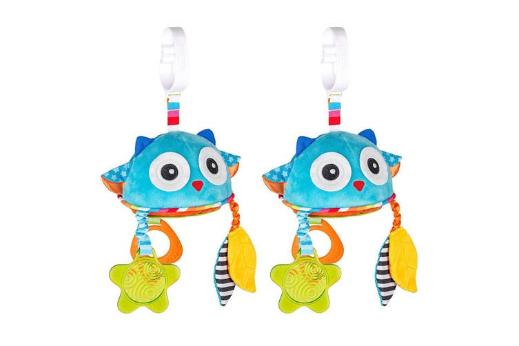 2PK Benbat Travel Mirror Owl Hanging Educational Stroller Baby/Infant 0m+ Toys